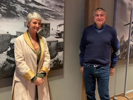 Chiara Fabbri e Remo Prodotti di FIavet-Confcommercio VdA nel Consiglio nazionale presieduto da Ivana Jelinic