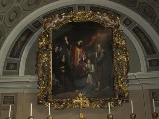 Il quadro rinascimentale di San Grato che si può ammirare nella Cattedrale di Aosta