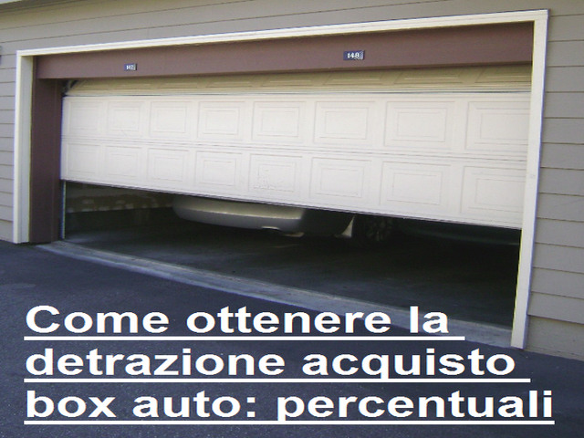 Agevolazione del 36 per l 39 acquisto di box auto for Acquisto box pertinenziale detrazione 50 agenzia entrate