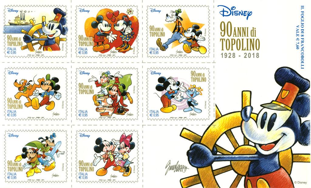Nei Francobolli Di Poste Italiane I Fumetti Di Disney