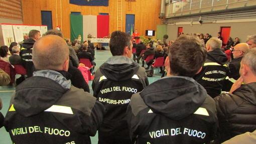 Al Forte di Bard l'Assemblea annuale del Corpo valdostano dei  Vigili del Fuoco volontari