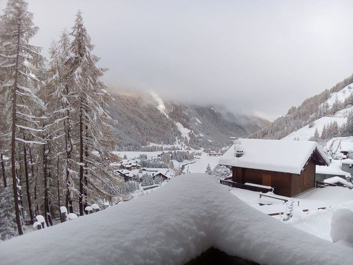 La prima neve a Cogne (foto da profilo Fb Sei di Cogne se...