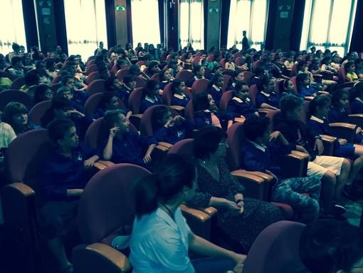Sala Viglino a Palazzo regionale gremita di studenti per Donacibo 201