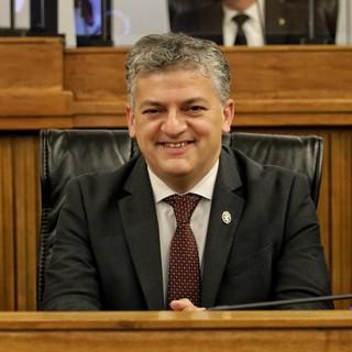 L'assessore regionale e vicepresidente della Giunta Luigi Bertschy