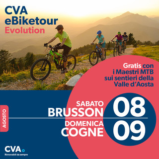 WEEK-END IN SELLA: A BRUSSON E COGNE CON IL CVA EBIKETOUR EVOLUTION