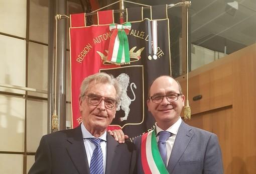 Il dottor Chiantaretto con il sindaco Martinet