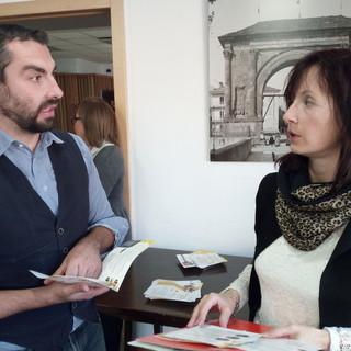 L'assessore comunale Diego Joyeusaz ed il sindaco Tamara Lanaro