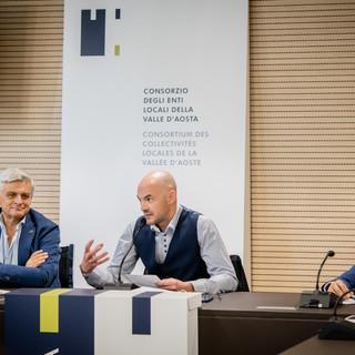 Luciano Caveri, Ronni Borbey e Corrado Jordan