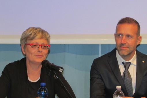 Aannamaria Furla e Jean Dondeynaz, segretario generale Cisl VdA