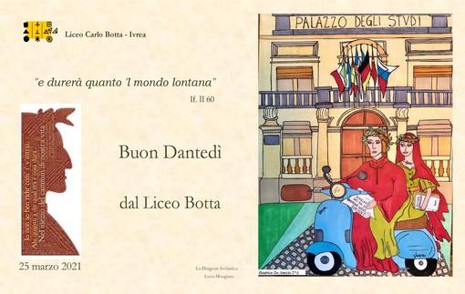 Il Liceo Botta di Ivrea celebra il Dantedì