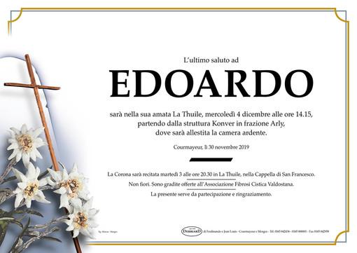 Mercoledì a La Thuile il funerale di Edoardo Camardella