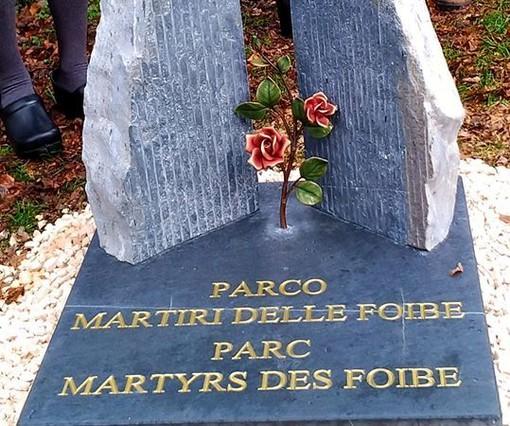 Aosta: Inaugurato il cippo a ricordo dei martiri delle Foibe