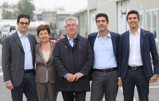 Foto di gruppo per la famiglia Marazzato