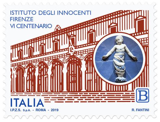 Il francobollo dedicato all'Istituto degli Innocenti