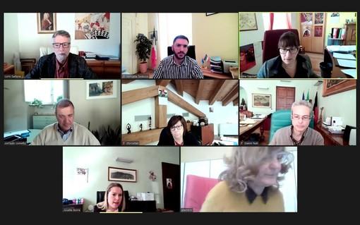 La Giunta comunale di Aosta in videoconferenza