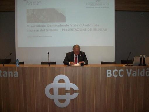 Il presidente di Confcommercio Valle d'Aosta Graziano Dominidiato
