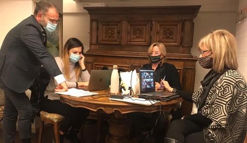 I Consiglieri comunali di Rinnovamento VdA: Giovanni Girardini, Eleonora Baccini, Roberta Carla Balbis, Cristina Dattola