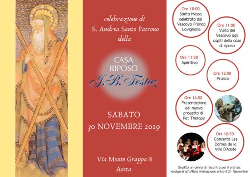 La casa di riposo JB Festaz di Aosta festeggia il suo santo Patrono