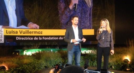M.me Luisa Vuillermoz sur scène au Festival de Namur