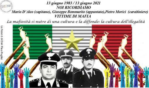 Anniversario assassinio del capitano dei carabinieri Mario D'Aleo, Giuseppe Bommarito e Pietro Morici