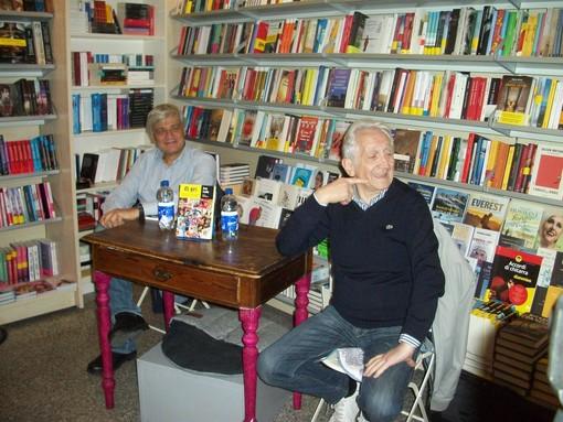 Luciano Caveri e Bruno Casalino alla Libreria Brivio