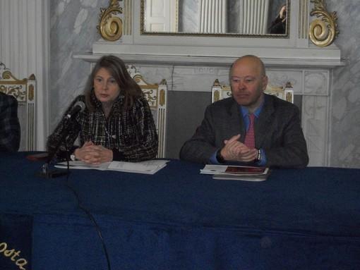 La vicesindaca Antonella Marcoz ed il presidente della Chambre Nicola Rosset