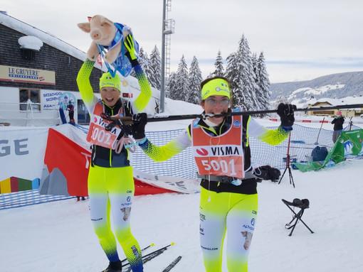 Mirko al traguardo (Credits foto: Skiing for Pigs)