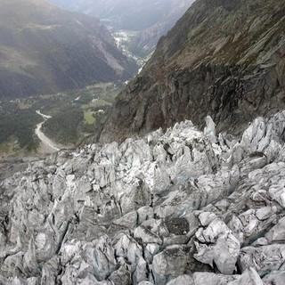 Undici possibili scenari di rischio crollo per il ghiacciaio di Planpincieux