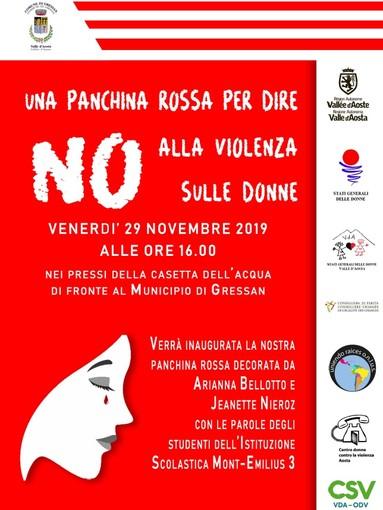Panchine rosse in tutti i comuni contro la violenza sulle donne