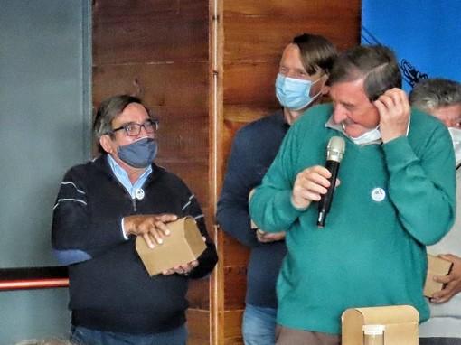 Da sn Renzo Caddeo con il sindacalista valdostano e leader del Savt Guido Corniolo