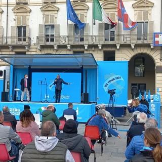 La UIL Valle d'Aosta a Torino in piazza Castello per il TOUR UIL
