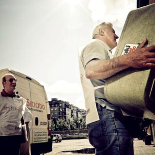 Volontari del Banco Alimentare all'opera