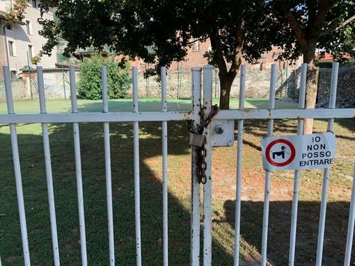 L'ingresso del parco di via Antica Zecca
