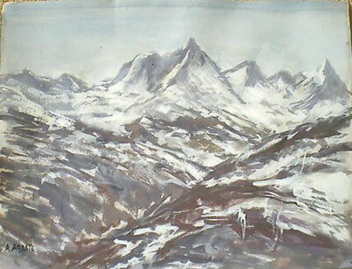 Un paysage peint par Abrate