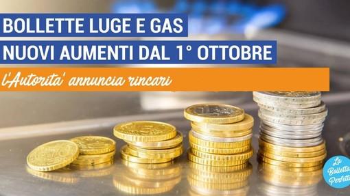 Aumento tariffe del 29,8% per l'elettricità e 14,4% per il gas
