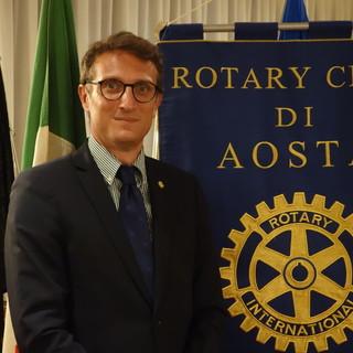 Presidente del Rotary Club di Aosta, Fabio Avezzano