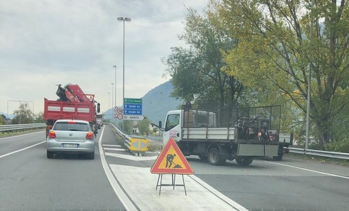 Aosta: I lavori stradali all'ingresso ovest della città fanno infuriare gli automobilisti