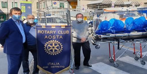 Dal Rotary barella di contenimento alla Usl valdostana