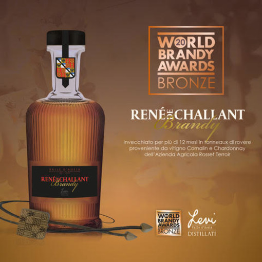 Medaglia di Bronzo Al World Brandy Awards  Brandy René de Challant Levi