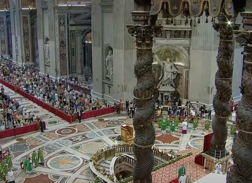 La messa in Basilica Vaticana