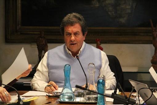 L'assessore Mauro Baccega in audizione per illustrazione bilancio 2020