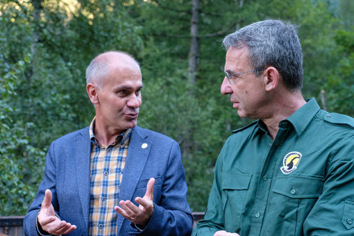 L'Assessore all'Ambiente, Risorse naturali e Corpo forestale, Albert Chatrian, ed il  Ministro dell'Ambiente e della Tutela del Territorio e del mare, Sergio Costa