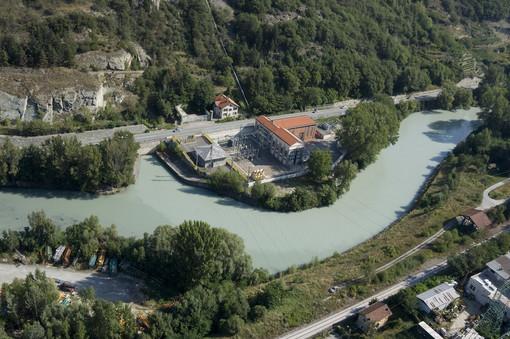 La centrale idroelettrica di Quart-Nus del Gruppo CVA che fornirà l'energia allo stabilimento