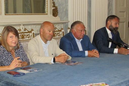 Da sn Antonella Marcoz, Nicola Rosset, Graziano Dominidiato e Giovanni Girardini