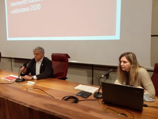 L'assessore regionale all'Istruzione, Luciano Caveri e la Sovrintendente regionale agli Studi, Marina Fey