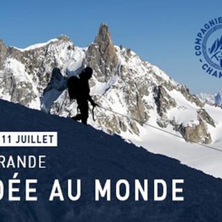 Cordata più lunga del mondo per celebrare 200 anni delle Guide di Chamonix