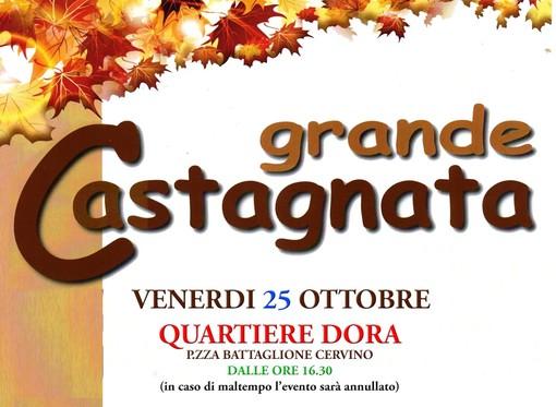 Tempo di castagnate e ad Aosta le caldarroste per la socializzazione al Quartiere Dora e al Quartiere Cogne