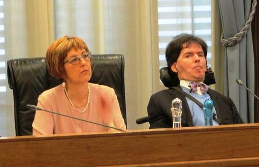I Consiglieri di Rete Civica Chiara Minelli e Albert Bertin