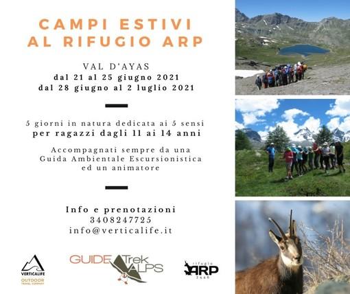 Campi estivi al Rifugio Arp, 5 giorni tra la natura