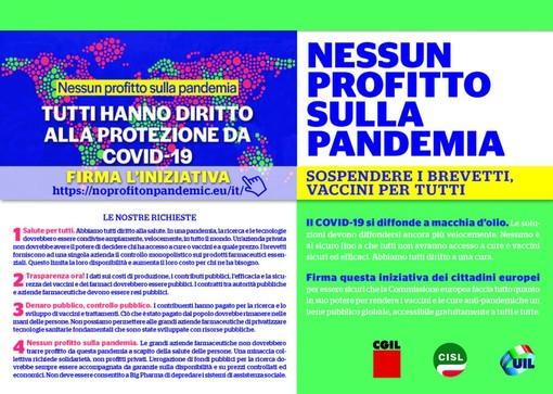 Prosegue la raccolta firme europea 'Nessun profitto sulla pandemia. Diritto alle cure'